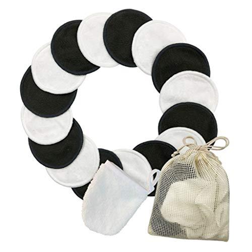 SDENSHI Démaquillant Doux Pads Kit De Sac De Blanchisserie Tampons Nettoyants Pour Le Visage Chiffons Essuyer - 16 pièces