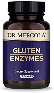 Dr Mercola Gluten Enzymes Dietary Supplement 30 Servings 30 Capsules Digestive Support Non GMO product image