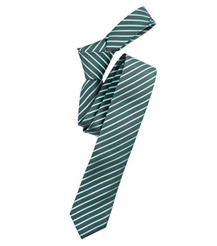 Venti Herren Krawatte gestreift Dunkelgrün Einheitsgröße