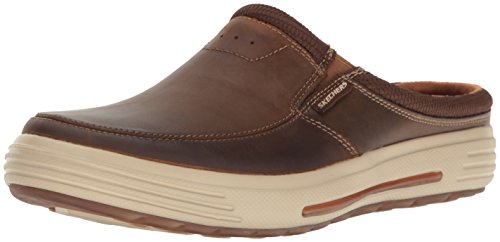 Skechers mens Classic Fit Porter - Vamen Slip On Loafer, Brown, 10.5 US