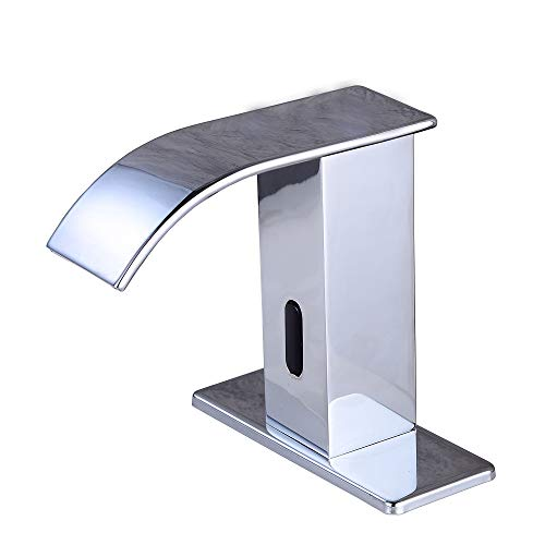 Gangang Automatic Faucet Square Body Touchless Sensor Waterfall Bathroom Sink Vessel Faucet...