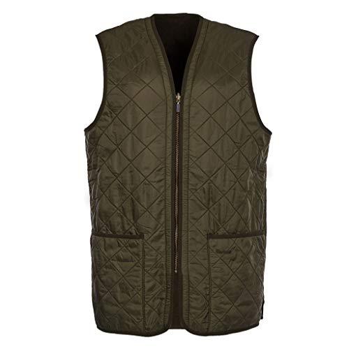 Barbour Weste innen gesteppt für Jacke Polarquilt Zip Liner, Grün X-Large