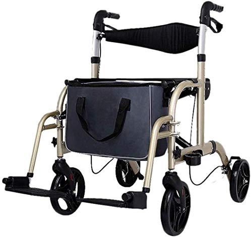 Rollatoren Oudere Walker Golden Winkelwagen Folding handmatige rolstoel in hoogte verstelbaar multifunctionele walker lichtgewicht rollator opvouwbaar