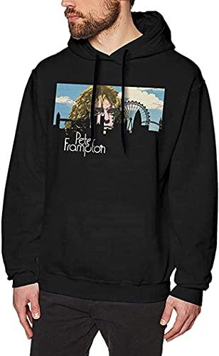Moda Adulto Hombres Classic Sweatshirtst Negro Diseño Único para Mans Hoodie, Negro, XXXL