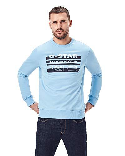 G-STAR RAW Mens Originals Sweatshirt, Delta Blue A613-1852, XS