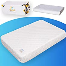 Sleepah Pack and Play Mattress Pad Portable Memory Foam; Double-Sided (Firm for Babies, Soft for Toddlers) Portable Waterproof Crib Mattress + Sheet; Fits Most Pack n Play 38 x 26 x 3