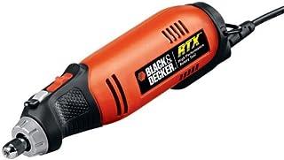 Black & Decker RTX-6 torno de 2 amperios y 3 velocidades con 27 accesorios y 2 prensas con resortes