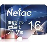 Netac microsd カード 16GB microSDXC UHS-I 読取り最大90MB/s 600X U1 C10 フルHD ビデオV10 A1 FAT32 高速フラッシュTFカード Nintendo Switch対応 P500