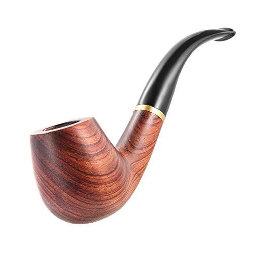 Joyoldelf Tubos de tabaco – Tubos de fumar de palisandro con soporte de tubo plegable, raspadores 3 en 1, otras herramientas de limpieza y otros accesorios