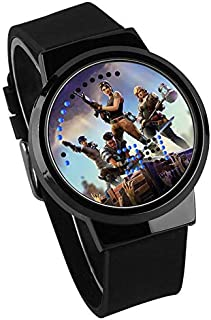 Waterproof Fortnite Game Touch Screen Wrist Watch Luminous Kids Childrens Student Cartoon Gifts