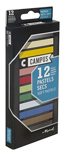 Campus - K60B.12 - Boîte de 12 Couleurs Pastels Secs