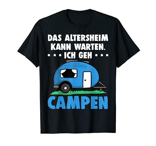 Camper Lustig Camping Wohnwagen Wohnmobile Rente Geschenk T-Shirt