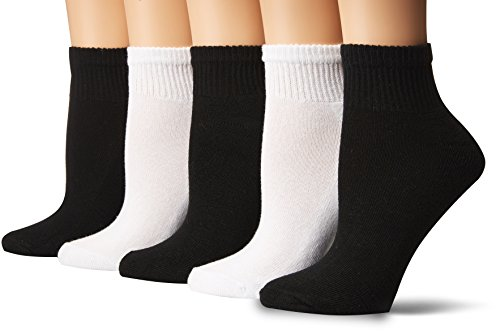 Gildan Women's Half Cushion Ankle Socks, 10 Pairs, assorted 963, Shoe Size: 4-10