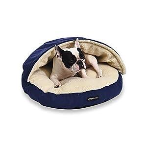 AmazonBasics Pet Cave Bed, Small, Blue