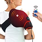 CHEROO Shoulder Heating Pad with Vibration Massager, Auto Shut Off Far Infrared Heated Brace Wrap Support W/Remote Control for Rotator Cuff Joint Tendon Injury Arthritis Pain Relief (XL-XXL)