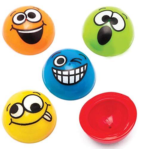 Baker Ross Puces sauteuses à visage amusant (paquet de 12) - Mini jouets
