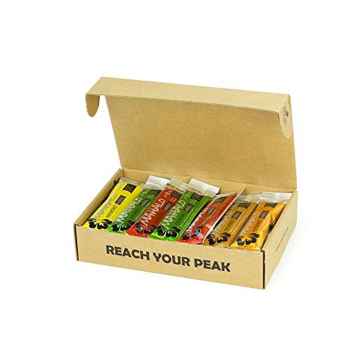 MAHALO HYDROGEL MIX BOX. 18 Sticks x 45 ml. Pack de 18 geles 12 PERFORMANCE HYDROGEL (Limón +Frutos Rojos+ Manzana) + 3 PERFORMANCE CAFFEINE HYDROGEL (cola)+ 3 PERFORMANCE BCAA HYDROGEL (naranja).