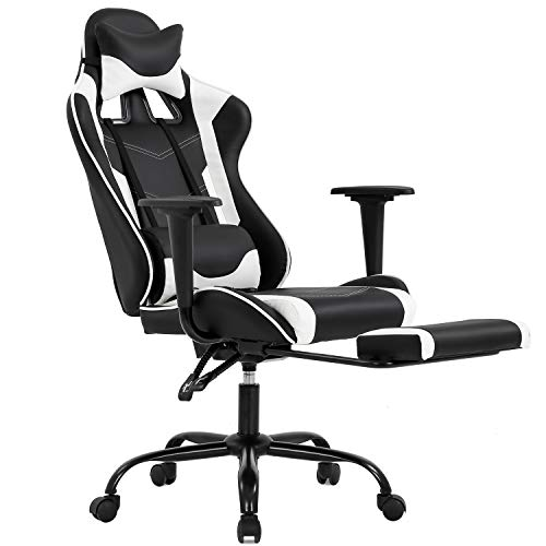 Gaming Chair with Footrest,...