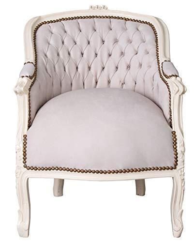 BAROCKER Sessel Louis XV Bergere Creme BAROCKSTUHL Shabby CHIC Palazzo Exclusiv