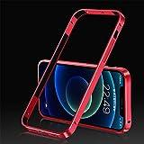 para iPhone 12 Mini Aluminio Metal Bumper Case Cover Frame Sin Respaldo, a Prueba de Golpes Anti-Scratch Protective Phone Bumper Frame Hard Shell