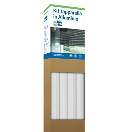 Rollplast ALLKTASM0100000083016001 Tapparella in Alluminio Profilo 1255. Riducibile, Facile da Montare, Economica, Resistente. Colore Bianco