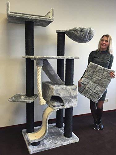 Tiragraffi per gatti grandi xxl Kilimandjaro Blackline Grigio Chiaro maine coon robusto adulti grande gatto albero enormi giganti XL