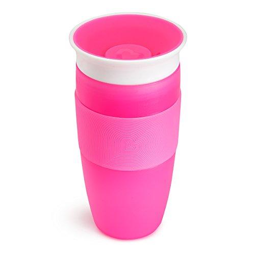 Munchkin Miracle 360° Vaso de Entrenamiento, Rosa (Pink), 414 ml