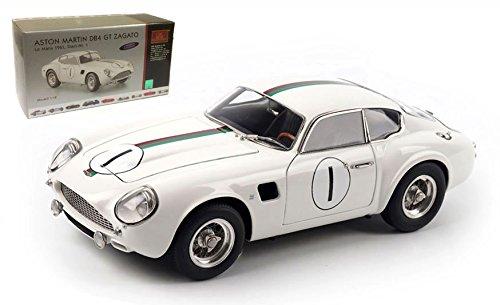 Aston Martin DB4 GT Zagato , No.1, 24h Le Mans, 1961, Modellauto, Fertigmodell, CMC 1:18