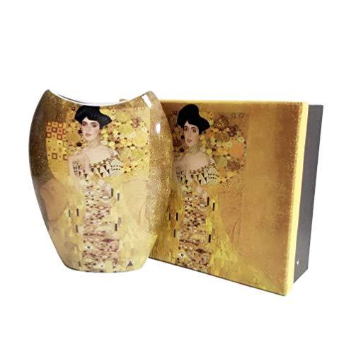 Atelier Harmony Gustav Klimt Vase Motiv Adele Porzellan mit Geschenkbox