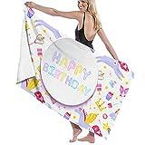 asdew987 Juego de toallas de playa de Pegasus, diseño de unicornio y postre, juego de toallas de baño, toallas de baño, accesorios para piscina, toalla de viaje y baño de 80 cm x 130 cm