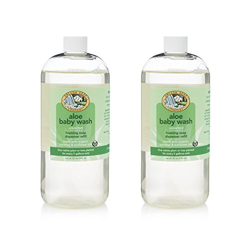 Oregon Soap Company - Foaming Castile Hand Soap REFILL, Made with USDA Certified Organic Oils (32 oz (2 Pack), Aloe Baby Wash)