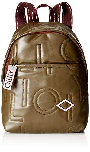 Oilily Damen Gladdy Backpack Mvz Rucksackhandtasche Grün (Khaki)