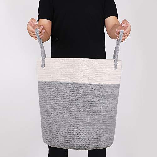 YCM Wäschekorb aus Baumwolle Seil,Baby Spielzeug Storage-Home Aufbewahrungskorb