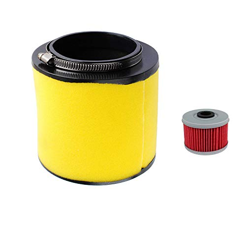 Ketofa 17254-HN1-000 Air Filter for Compatible With Honda Foreman 400EX 500 TRX500FE1 4x4 ES TRX500FE2 4x4 ES EPS,TRX500FE2 4x4 Rancher Sportrax Pioneer Rubicon with TRX400X Oil Filter