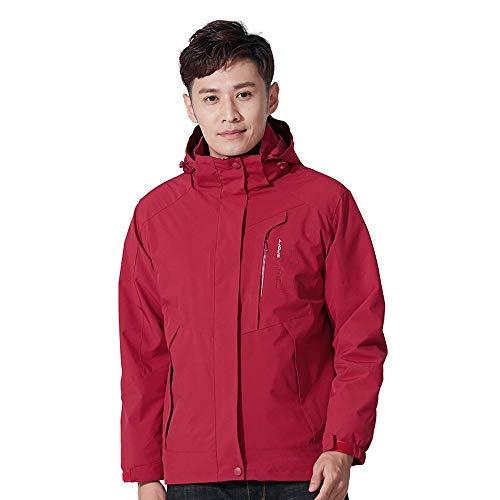 Homme Femme Softshell Veste Imperméable Blouson Warm Manteau Two-Piece Coupe-Vent pour Outdoor Camping H-M