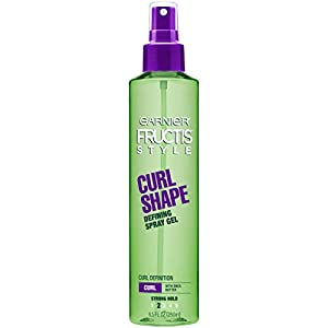 Garnier Fructis Style Curl Shape Defining Spray Gel, Curly Hair, 8.5 fl. oz.