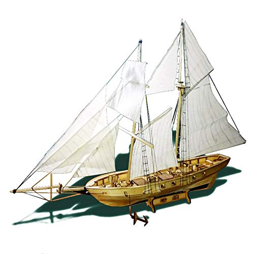 KKmoon Modelo Velero,Juguete de Barco de Vela,Madera,Kits para Bricolaje Montar Ensamblar,Kit de Montaje para Barcos de Vela