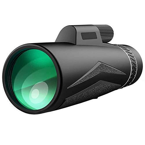 QWERTY 12X50 HD Telescopio Monocular, BAK4 Prisma FMC Monóculo Impermeable Zoom Monóculo, con Teléfono Inteligente Poseedor y Trípode, por Observación de Aves Caza Cámping