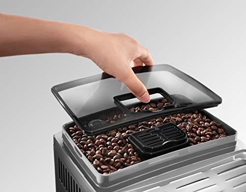 DeLonghi ECAM Cafetera automática compacta con suporte para tazas y con