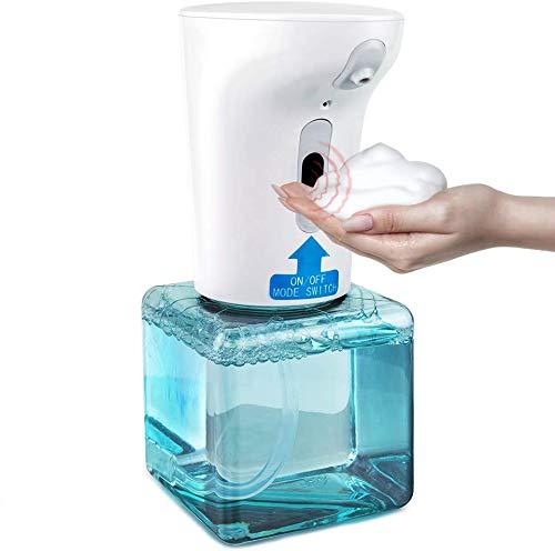Dispensador de Jabón Automático, Dispensador de Jabón Espumoso con Sensor de Infrarrojos sin Contacto, Capacidad de 450ml Botella de Bomba Dispensadora de Jabón Manos Libres para Baño, Cocina, Oficina