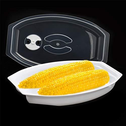 YJYDD Mikrowellen-Mais-Dampfgarer Maiskolben fettfrei schnell einfach Kunststoff Küchentopf