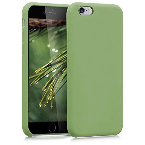 kwmobile Funda Compatible con Apple iPhone 6 / 6S - Carcasa de TPU para móvil - Cover Trasero en Verde Claro