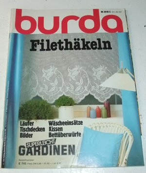 burda Filethäkeln, Heft E 745 - Superleicht Gardinen