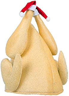 Cartoon Turkey Hat Christmas Thanksgiving Day Chicken Legs Party Dinner Velvet Hats (Color : -, Size : -)