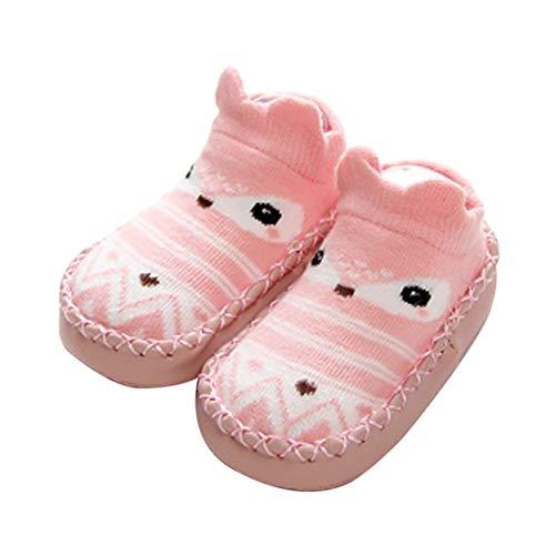Jyuesi Hot Verkopen 0-3 Jaar Pasgeboren Baby Katoen Silica Gel Antiskid Antislip Peuter Schoenen Sokken S roze