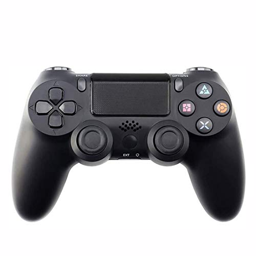 EtexFan Wireless Controller für PS4 Slim/PS4 Pro,USB Controller für PC,Bluetooth Gamepad mit Dual-Vibration Audiofunktionen Playstation Controller Joystick - Dunkles Schwarz