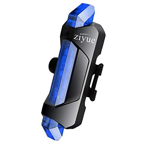 Ziyueセーフティーライト 自転車 usb充電式 高輝度ledテールライト 防水 4点灯モード 夜間走行の視認性をア...