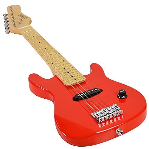 3rd Avenue Pack de guitarra acústica con Cutaway Junior para principiantes con amplificador, cable, funda de transporte y correa, Rojo