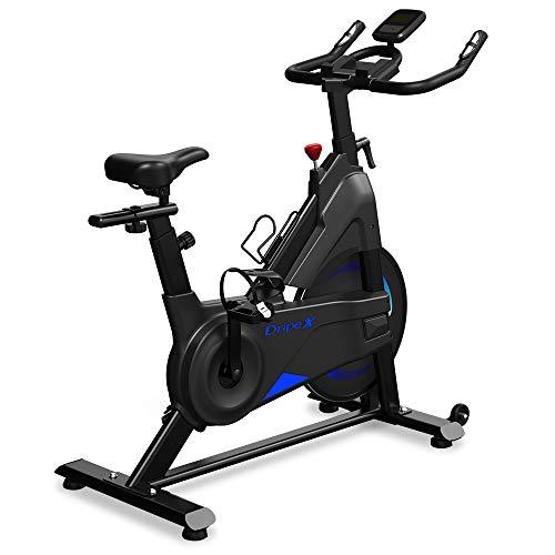 Dripex Heimtrainer Fahrrad Indoor Hometrainer Ergometer mit Stahlschwungrad, Magnetbremse, Pulsmesser, LCD-Anzeige und Flaschehalter Benutzergewicht bis 120kg