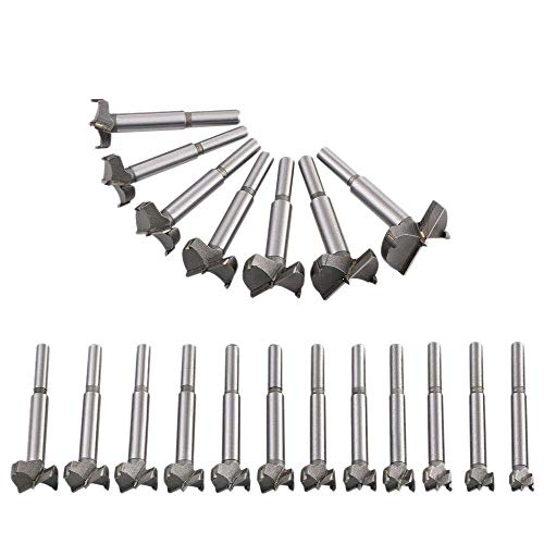 PENFU Drill 19 Pcs Drill Bit (10mm-40mm) Titanium Alloy Steel Woodworking Hole Saw HSS Drill Bit Sets for Wood Plastic Plywood Tool
